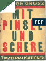 George Grosz-Mit Pinsel und Schere 7 Materialisationen