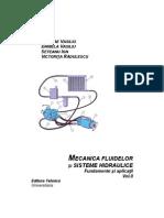 MECANICA FLUIDELOR ŞI SISTEME HIDRAULICE Fundamente şi aplicaţii Vol.II