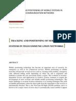 TRACKINGANDPOSITIONINGOFMOBILESYSTEMSINTELECOMMUNICATION