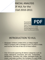 HUL Financial Analysis