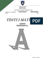 Testi i matures