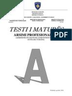 Testi a Profesional III Qershor 2010