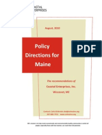 Policy Recommendations For Maine