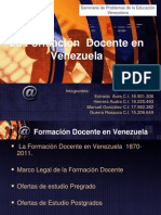 profesionalizacion docente en la Republica Bolivariana de Venezuela