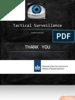 Tactical Surveillance
