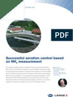 Control proces biologic aerare in functie de concentratia de amoniu
