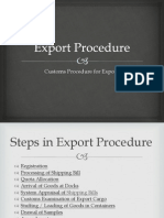 Export Procedure in India