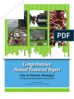 City of Detroit Comprehensive Financial Statements, year ended June 30, 2012
