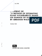 A Method of Estimating Plane vulnerability Based on Damage of Survivors
