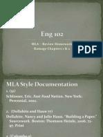 MLA, Ramage Chaps 1 & 2