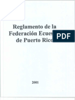 Reglamento Federación Puertorriqueña de Deportes Ecuestres