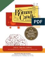 Roman Candle Menu