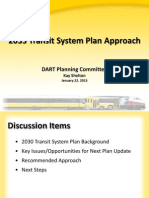 DART 2035 Transportation Plan update.