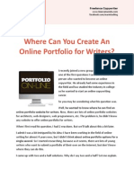 Where Can You Create An Online Portfolio for Writers?