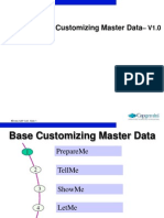 Master data base customization