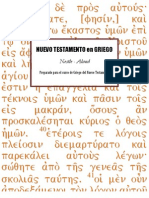 novum testamentum graece manuscript writing