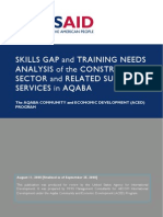 Skills Gap and Training Needs Analysis of the Construction Sector and Related Supporting Services in Aqaba