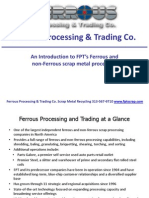 Ferrous Processing and Trading Scrap Metal Introduction