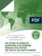 The Future of American Landpower