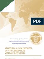 Venezuela as an Exporter of 4th Generation Warfare Instability