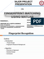Fingerprint Recognition using Matlab
