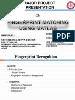 Fingerprint Recognition using Matlab