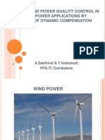 Voltage and Power Quality Control in Wind Power New