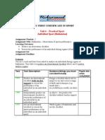 Badminton Observation Checklist
