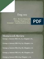 MLA, Ramage 1& 2, Capitalization, Parts of Speech