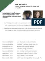 J. Drake Hamilton's presentation on climate change 1/22/13