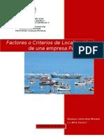 FACTORES O CRITERIOS DE LOCALIZACIÓN PARA UNA EMPRESA PESQUERA