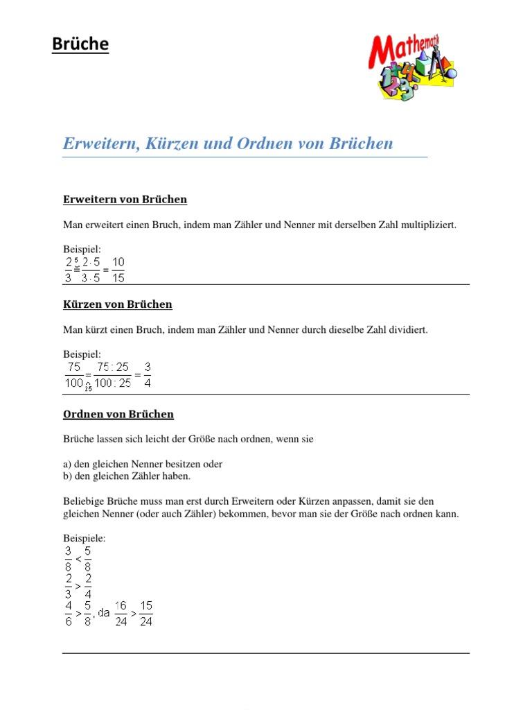 Mathe (Brüche)