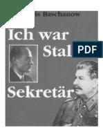 Ich war Stalins Sekretar