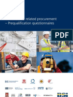 BSI PAS91 Construction Procurement Pre Qualification Questionaires