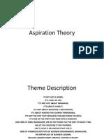 Aspiration Theory
