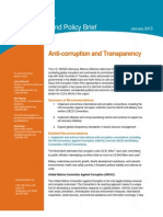 2013 G8 Anti-Corruption and Transparency Background Policy Brief