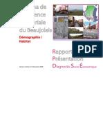 SCoT Beaujolais Rapport de Présentation, Diagnostic Socio-Eco Demographie