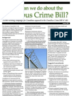 What can we do about the Omnibus Crime Bill