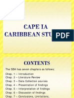 cAPE caribbean studies ia