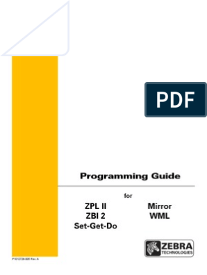 Zebra ZPL Programming Guide | Comma Separated Values | Computing