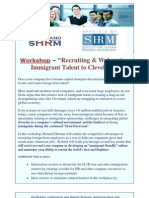 """Workshop, 2/8/2013, """"Recruiting & Welcoming Immigrant Talent to Cleveland"""""""