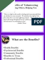 5-Benefits of Volunteering