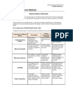 Physical Fitness Worksheet