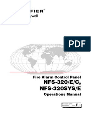Notifier 320 Operations Manual on
