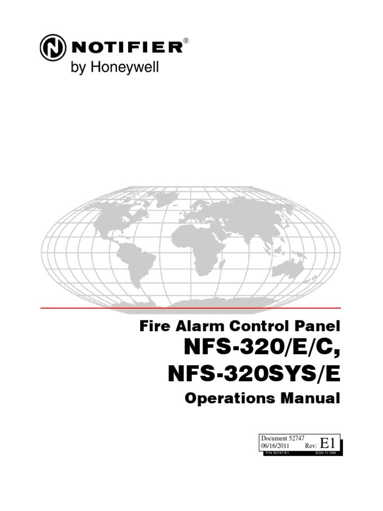 Notifier 320 Operations Manual
