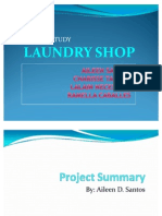 study in laundry shop