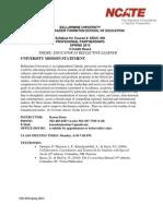 Bellarmine University EDUC 446 Syllabus