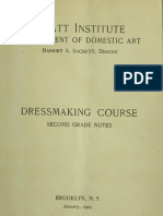 Pratt Institute Dressmaking Course