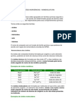 Funções Inorgânicas - Nomenclatura