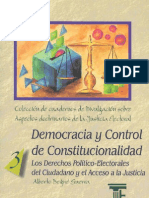 Democracia y Control Constitucional Alberto Begne Guerra